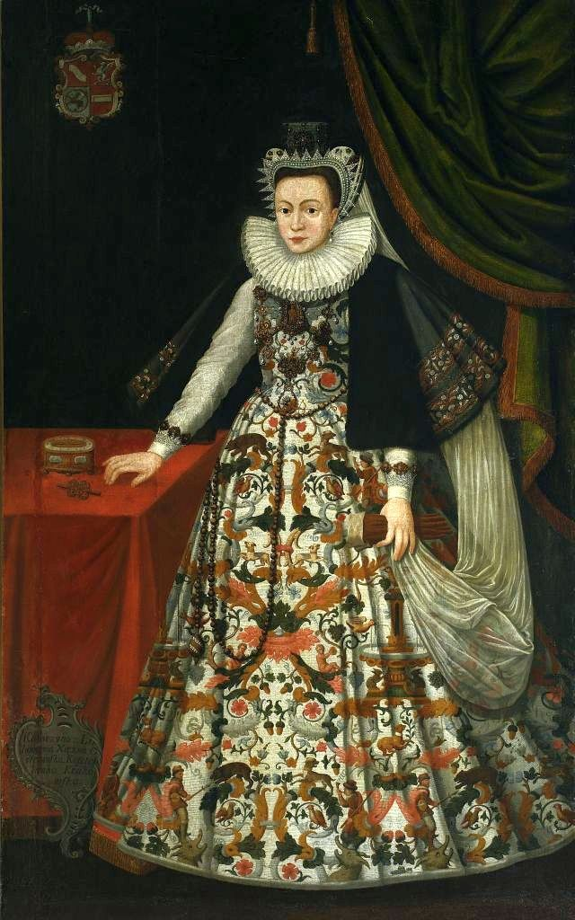 Artist Anonymous (Kraków)  Title Portrait of Katarzyna Ostrogska nee Lubomirska. Date 1597  Medium oil on canvas  Dimensions 200 × 121.5 cm (78.7 × 47.8 in)  Current location  National Museum in Warsaw (MNW)  1st floor  Accession number 157500  References ed. Dorota Folga- Januszewska (2006). National museum in Warsaw. Galleries and Study Collections. Guide. Muzeum Narodowe w Warszawie. ISBN: 83-7100-808-2, cat. no. VA.1  Source/Photographer artyzm.com File:Anonymous Katarzyna Ostrogska.jpg