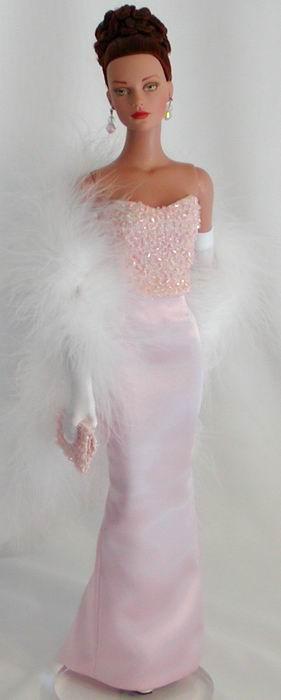 Barbie doll gowns.........Beaded Bustier-Silk Skirt.12.28.5