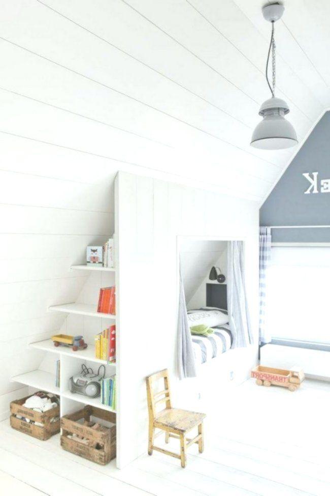 Dachschrage Ideen Kinderzimmer Bett Stauraum Regale Dachschrage