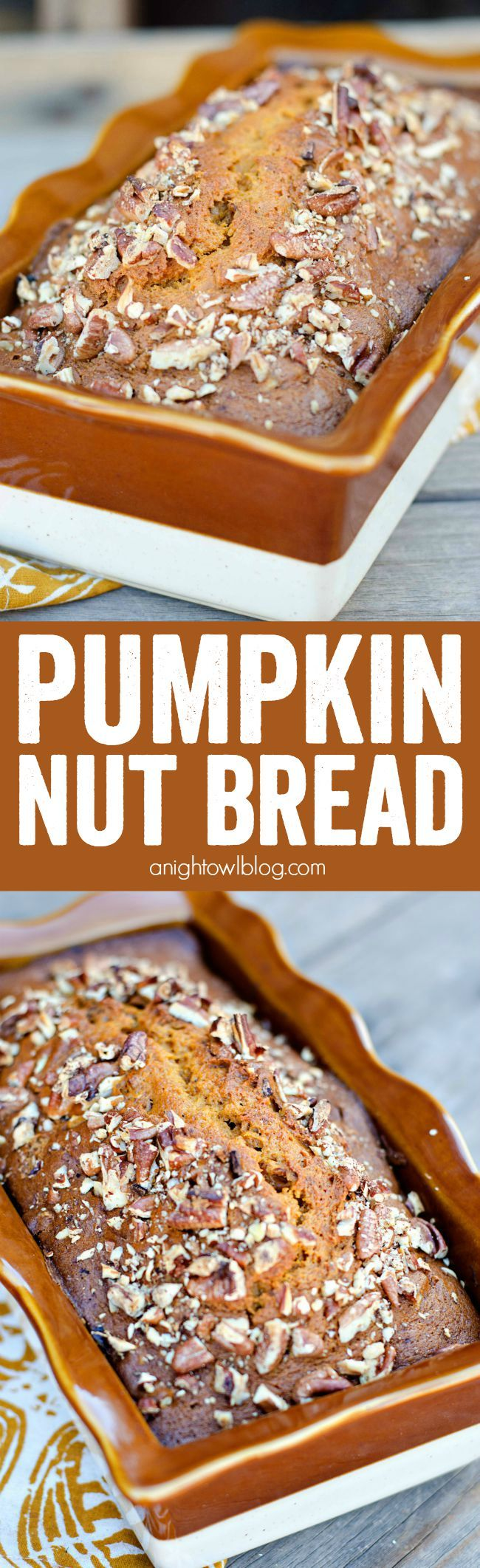 Easy Pumpkin Nut Bread recipe baked in a gorgeous #WorldMarket Ruffled Loaf Pan! #WorldMarketTribe