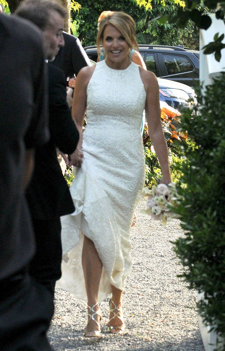 Pin for Later: Katie Couric Is Married — See Her Wedding Pictures!  Katie wore a sleeveless dress.