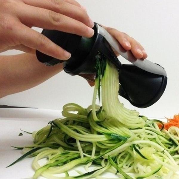 New Spiral Slicer - Vegetable Spiralizer - Zucchini Spaghetti Pasta Maker