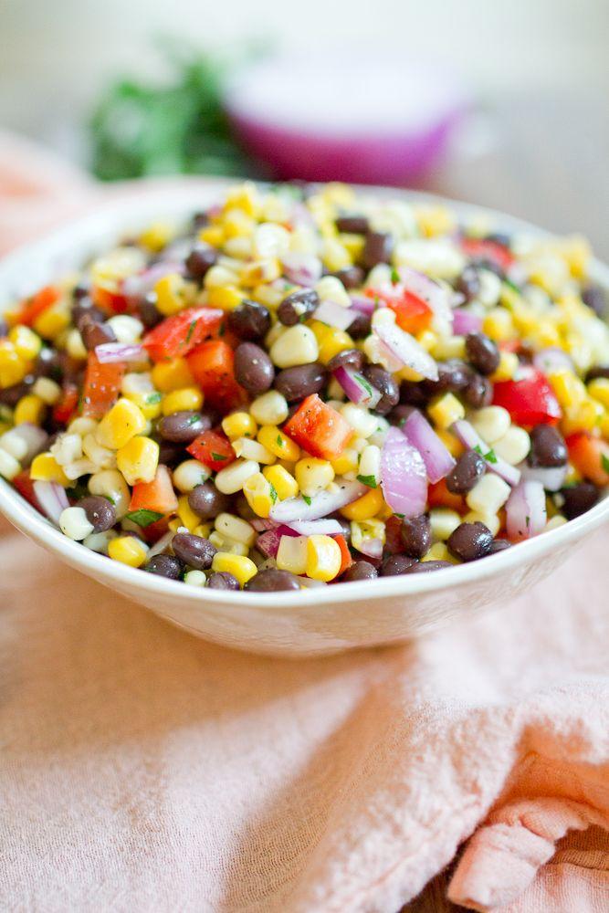 Black Bean Succotash -- the best summer cookout dish!