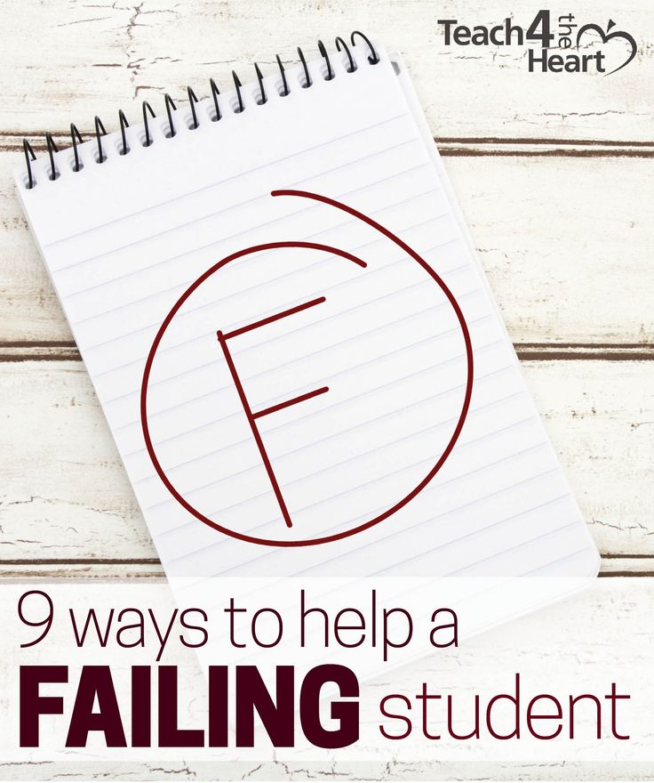 What do you do when a student is failing your class? Here are some great tips for teachers who have a student (or many students) who are struggling.