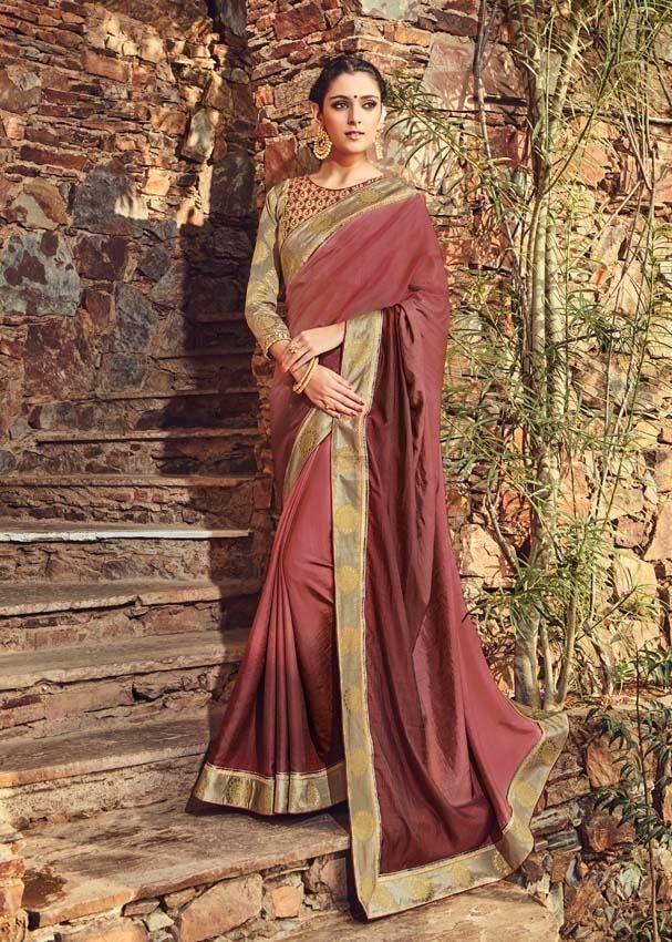 Indulge yourself gorgeous in this shaded brown designer partywear saree To order pls call/whatsapp +919600639563 for booking #saree #ethnic #elegance #designerwear #trendy #stylish #partywear #fashionable #indianfashion #womensfashion #apparels #salwarkameez #lehengas #clothing #womenswear #fashion