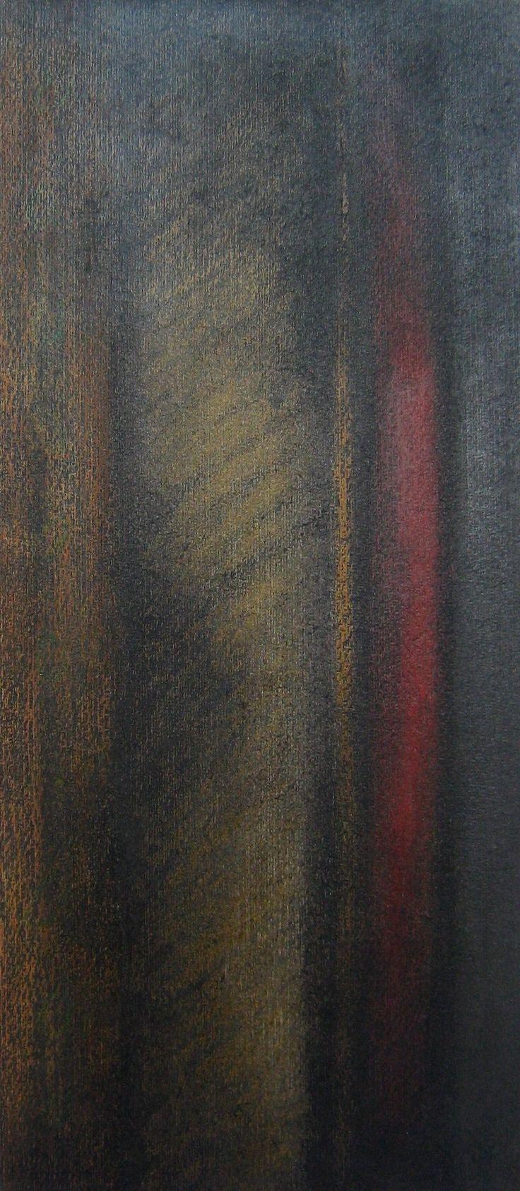 Stefano d' Andrea - pastelli a olio su carta - cm. 25 x 50