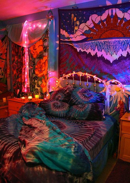 • love hippie room bedroom Grunge tumblr room insane---world •
