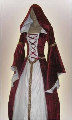 wow! gorgeous medieval dress! i want to make this! love the red!