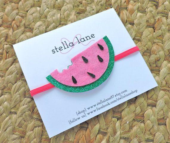 Watermelon glitter headband https://www.etsy.com/listing/227616739/watermelon-glitter-headband-fruit-hair