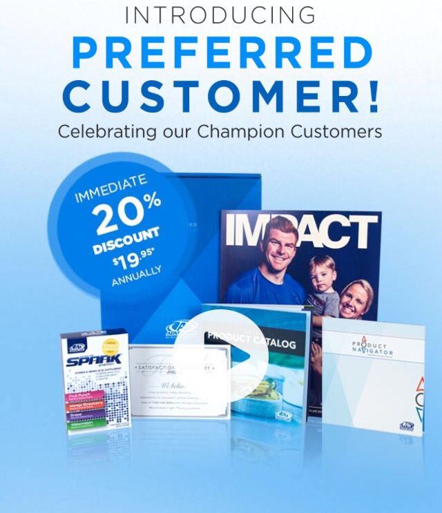 They've done it again!!  :)  AdvoCare has introduced a $19.95  Preferred Customer Option, what an amazing deal to start on these great products!  Here are the benefits and link for more information: (as always...No auto ships, no monthly quotas, no requirements!!! AND A FREE SAMPLE BOX OF SPARK)     +An immediate 20% product discount that can increase up to 30%**    https://www.advocare.com/140162707/PreferredCustomer/default.aspx