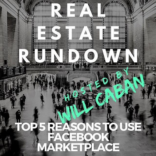 Real Estate Professionals Check Out My Latest Podcast 5 Reasons Fb Marketplace Rocks Click The Link Abov Best Mortgage Rates Today Underwriting Miami Realtor