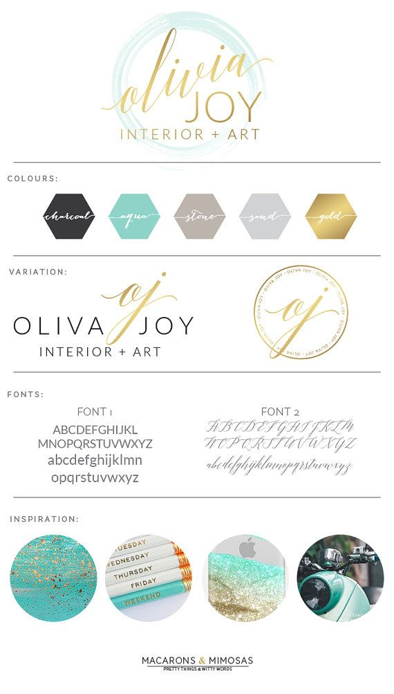 Design Studio | Branding | Business Branding | Brand Board | Branding Kit Logo Design | Rose Gold Logo | Blush Pink Teal Color Scheme | watercolor circle Calligraphy Watercolor | Premade Submark Watermark Stamp | Blogger Photography
