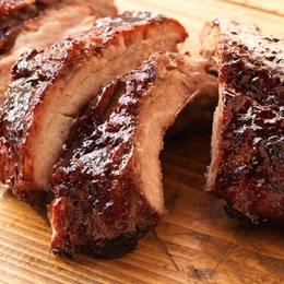 Baby Back Ribs with Pomegranate and Cherry Glaze