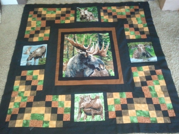 and the moose quilt starts :) follow me at : https://www.facebook.com/quiltsbyTaylor Quilts by ...