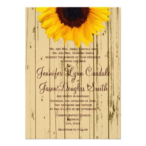 Country Sunflower Barn Rustic Wedding Invitations Http
