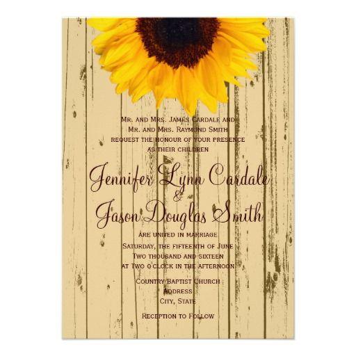 Country Sunflower Barn Rustic Wedding Invitations http://www.zazzle.com/country_sunflower_barn_rustic_wedding_invitations-161998519829208625?rf=238133515809110851 #wedding #sunflowers