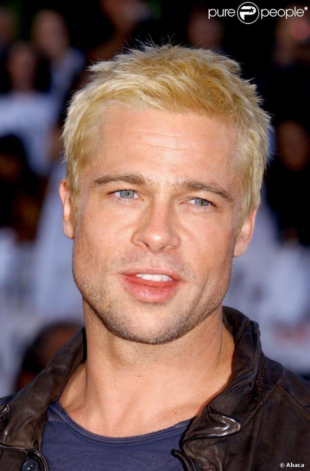 PHOTOS - Brad Pitt exibiu o cabelo platinado na estreia mundial de 'Sr. & Sra…
