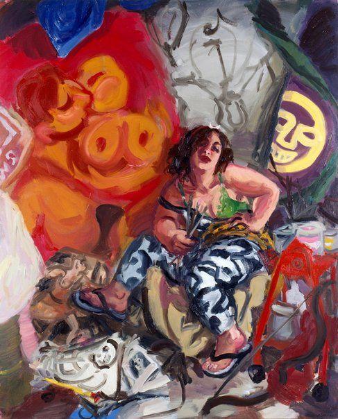 Winner: Archibald Prize 1996 Wendy Sharpe Title Self portrait - as Diana of Erskineville Medium oil on canvas
