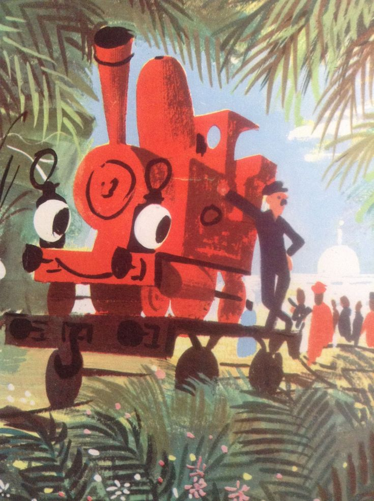 The Little Red Engine Goes Home 1968 by Diana Ross (Author), Leslie Wood (Drawings) by weseatree on Etsy