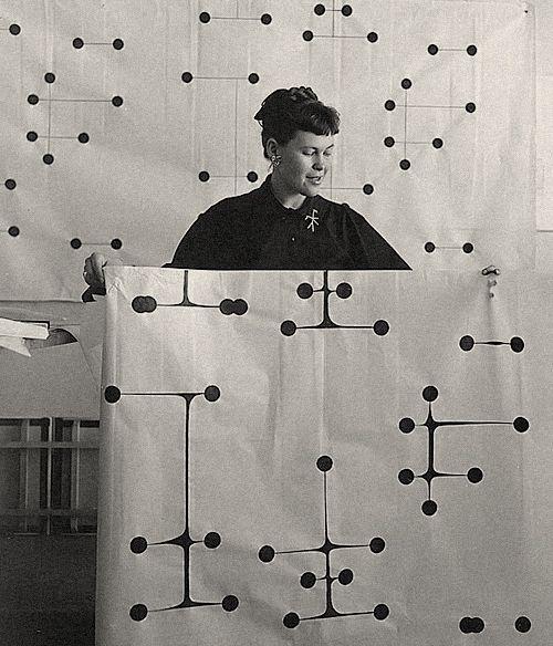 Ray Eames. Dot Pattern Fabric