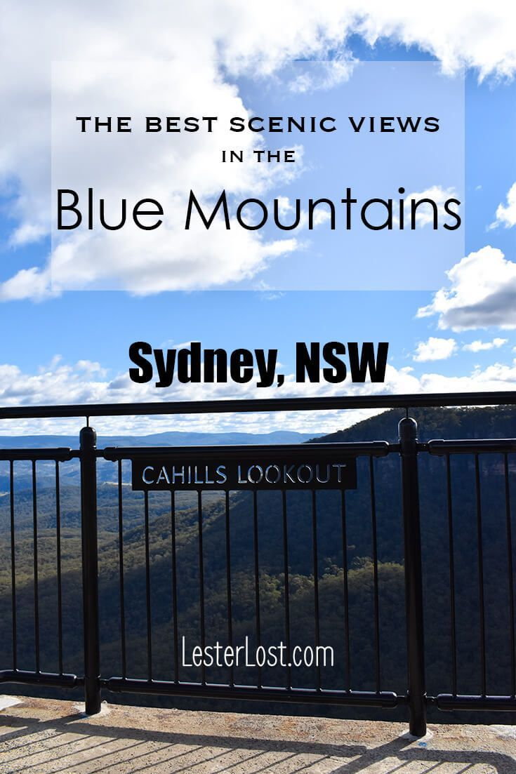 The Blue Mountains are an easy drive less than 2 hours from Sydney, NSW. There are many stunning lookouts with sweeping views over the blue valleys. via @Delphine LesterLost