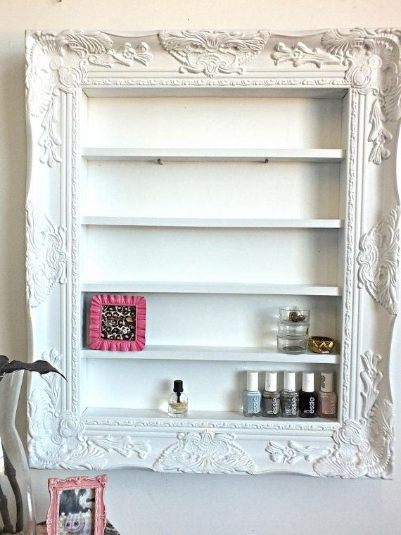 White Baroque Ornate Display Organizer by DaintyCreations on Etsy