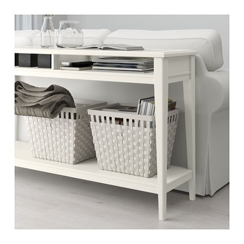 LIATORP Console table - white/glass - IKEA