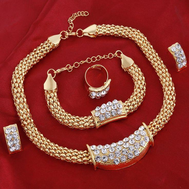 Berlebihan choker kalung untuk wanita afrika beads pernyataan kalung gelang anting cincin perhiasan set pernikahan aksesoris