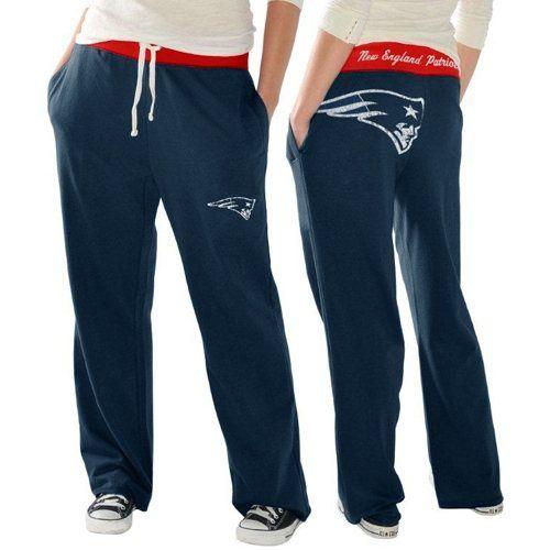 New England Patriots Ladies Recruit Fleece Pants - Navy Blue
