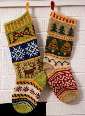 Mix-It-Up Christmas Stranded Stocking Pattern - Knitting Patterns and Crochet Patterns from KnitPicks.com