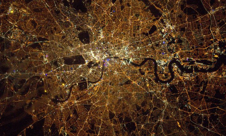 Tim Peake, the British astronaut on board the International Space Station (ISS), has posted this photo he took of London from space. | You Should See The Photos Tim Peake Is Taking From Space