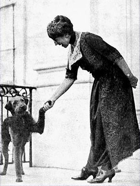 First Lady Florence Harding and Laddie Boy. Photo from The Library of Congress