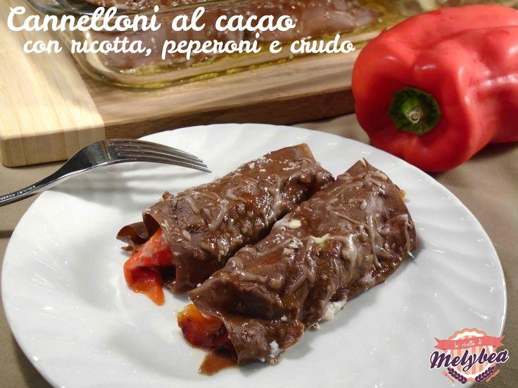 Cannelloni al cacao con ricotta, peperoni e crudo #pasta #foodporn #lasagne