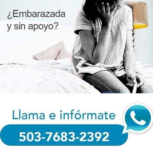 Contacta para recibir apoyo.  Escríbe al #WhatsApp o llama: 503 7683 2392  #Facebook: Embarazo No Deseado SV.  #JR #Embarazo