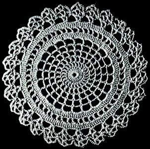 Crocheted doily (free patterns)