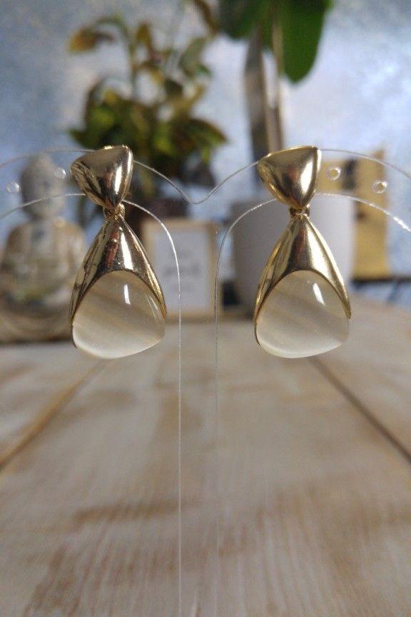 41054e2dded Σκουλαρίκια vintage 'Milena' Χρυσό | AccesStory Earrings, 2019 ...