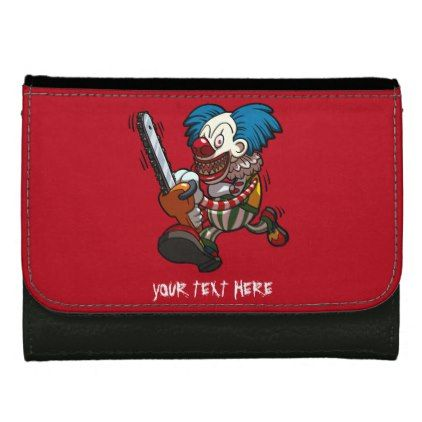 Colourful Chainsaw Clown Halloween Horror Cartoon Wallet - Halloween happyhalloween festival party holiday