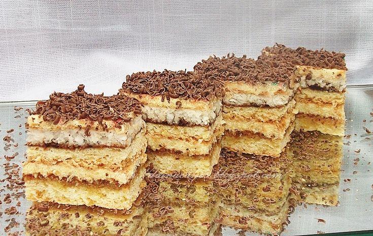 Soft cake with walnuts