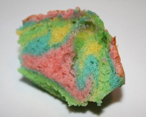 Rainbow muffins