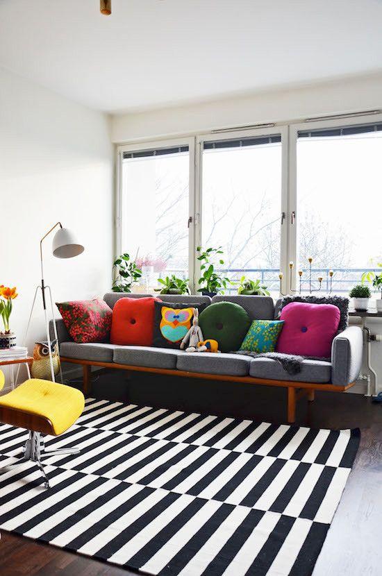 6 причин купить черно-белый полосатый ковер в ваш дом   - НЕЛЛИ МИХАЙЛОВА -