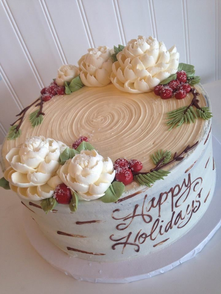 Christmas Cake Decorating With Buttercream : 17 Best images about Buttercream Cakes on Pinterest