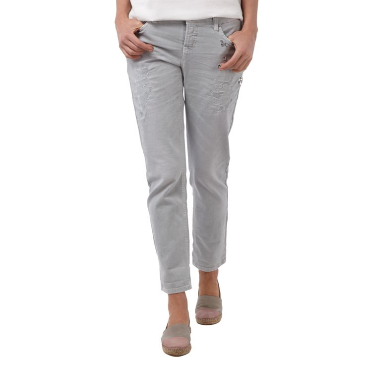 | #Cambio #Used #Look #Jeans mit #Ziersteinbesatz #für #Damen