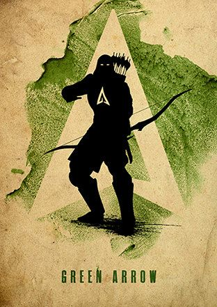 Green Arrow Justice League Minimalist Poster by moonposter on Etsy
