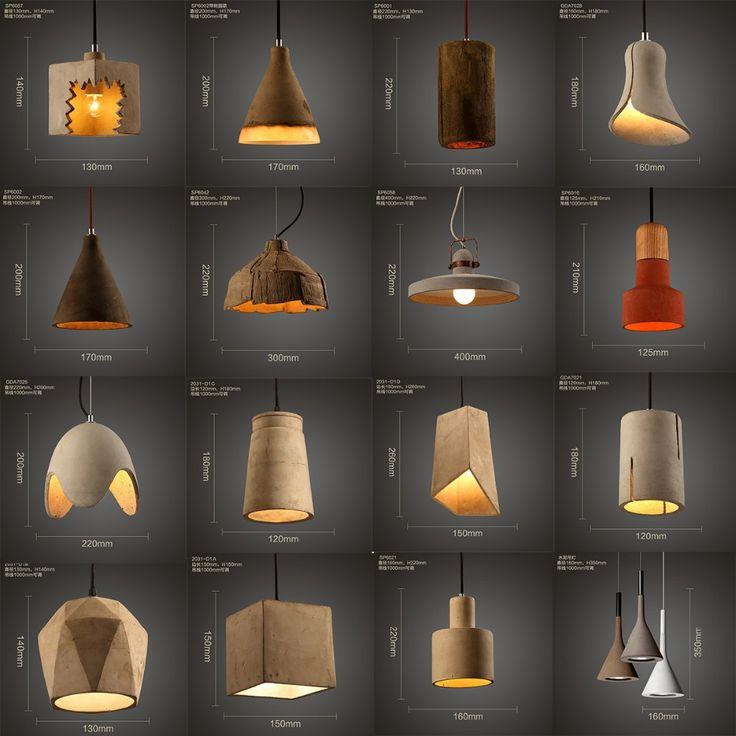 wholesale vintage concrete pendant lamp parts for hotel find complete details about wholesale vintage concrete