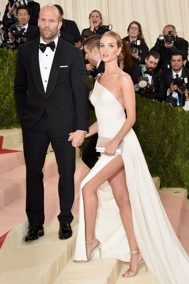 Jason Statham and Rosie Huntington-Whiteley - Met Gala 2016