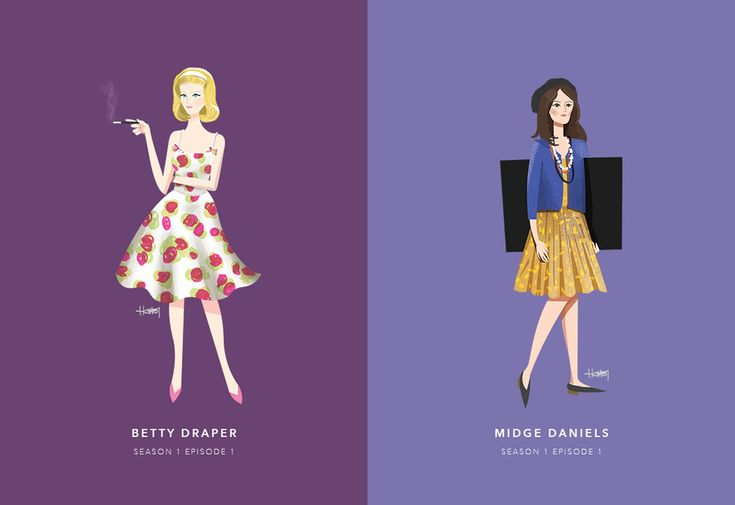 #HannaChoi #illustration #MadMen #TheWomenOfDonDraper