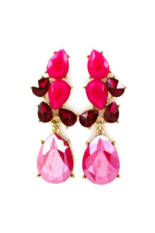Daniella Earrings in Ruby Kissed Raspberry