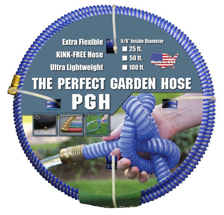 Tuff Guard The Perfect Garden Hose, Kink Proof Garden Hose Assembly, Blue,