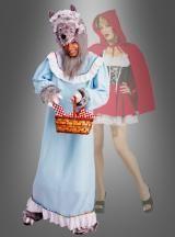 Was wäre Rotkäppchen ohne den Bösen Wolf? Wolfskostüm für Karneval und Märchen Mottoparty.