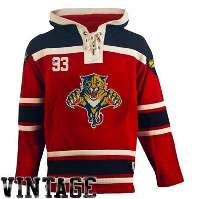Men's Florida Panthers Old Time Hockey Red Home Lace Heavyweight Hoodie
